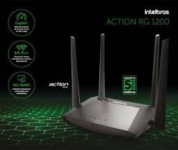 Promoção Roteador Wi-Fi Action RG 1200 com portas Gigabit
