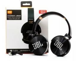 Fone Headphone Headset JBL Wireless Stereo Bluetooth Cartão sd Radio Recarregável JB950