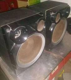 Vando caixas de som e Caixa Amplificada
