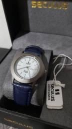Usado, Relógio Seculus Long Life feminino PU azul comprar usado  Belo Horizonte