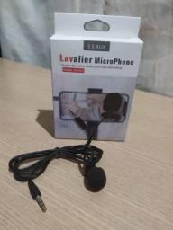 Microfone de lapela Lavalier P3