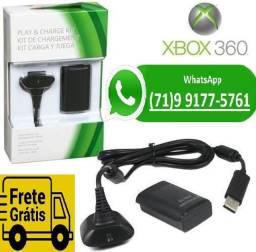 Kit Carregador Xbox360 E Bateria Pra Controle Xbox 360 + Cabo (NOVO) comprar usado  Salvador