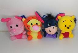 4pcs Chaveiro Turma do Pooh 10cm! Pelúcia infantil coleção Bebês e Crianças