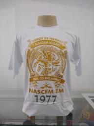 Camiseta Aniversário Homens de 1977