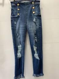 Calça jeans Dimy destroyed (nunca usada, porém sem etiqueta)
