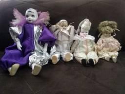 04 Bonecas De Pierrot - Cabeça, Maõs E Pés Porcelana (anos 80)
