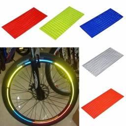 Adesivos refletivos de aro de roda de bicicleta MTB