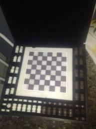 Jogo de xadrez e dama mármore