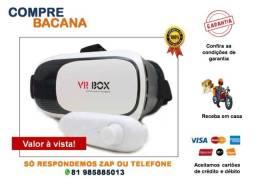 Óculos Vr Box Smartphone Realidade Virtual 3d + Controle