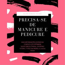 Título do anúncio: Contrata-se manicure e pedicure