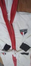 Roupão G  Personalizado São Paulo em Fleece