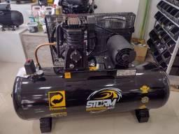 Título do anúncio: Compressor de ar 20 Pés 200 Litros 140 Libras 5cv Trif