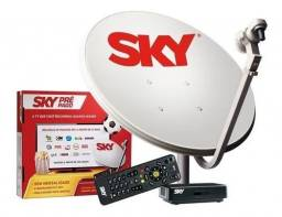 Título do anúncio: Kit completo Sky pré pago HD com seis meses de recarga de canais abertos