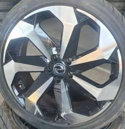 Título do anúncio: Rodas Jetta Tarântula aro 18 com pneus em até 10x de R$370,00 no cartão de crédito