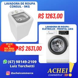 Título do anúncio: Lavadoras de Roupas _ 9kg _ 11kg _ 12kg _ 16kg _ Cesto de Inox _ Novo _ NF