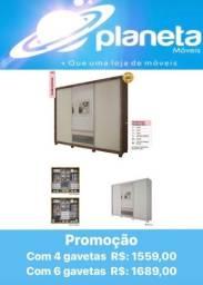 Título do anúncio: GUARDA ROUPA PARADIZZO GOLD / AQUÁRIOS AQUÁRIOS AQUÁRIOS