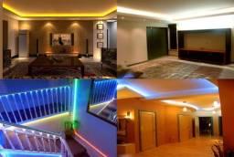 Fita Led 5 Metros Uso Geral Decoração Iluminação Moderna Gamer com Controle