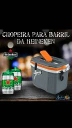 Chopeira térmica portátil a gelo com capacidade para 10 litros de chopp da Heineken !!