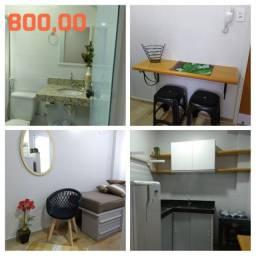 Kitnets mobiliadas no centro de São Mateus es 800 a 900,00