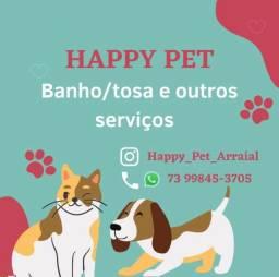 Título do anúncio: Serviços de Banho e tosa e Hotel Pet em Arraial D?Ajuda