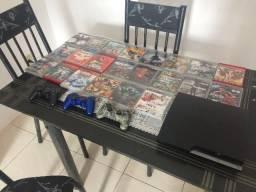 Playstation 3 + 22 jogos + 3 Controles Tudo Original