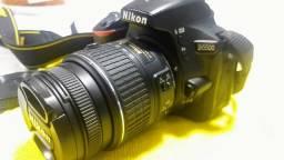 Camera Nikon D5500 Kit Lente 18-55mm C/ 300 Cliks Seminova