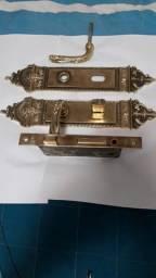 Fechadura Antiga de Bronze + Trinco de Segurança( Espelhos, Cilindro, Maçanetas!!! )