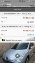 Peugeot 307, ano 2009/2010, automático,teto solar, PAR A INTERIOR - 2010
