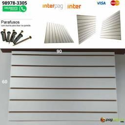Painel Canaletado Branco 90x60
