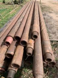 Tubos de aço carbono usados em bom estado para uso geral em usinagem