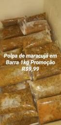Polpa de maracujá em Barra 1kg Promoção apenas 9,99
