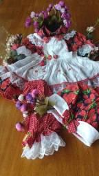 Vestido Bebê da Moranguinho Tam.01