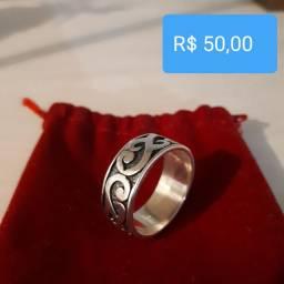 Anéis prata tamanho 24