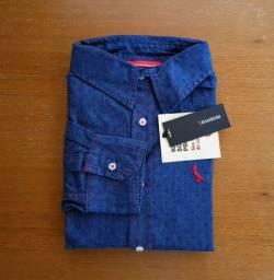 Camisa Social Masculina Jeans