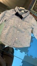 Camisa bebê H&M gravata borboleta