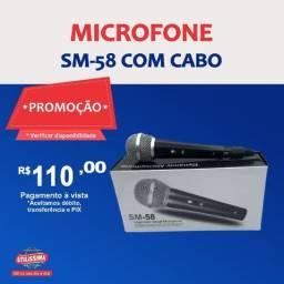 Título do anúncio: Microfone SM-58 com cabo