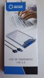 Case 3.0 Transparente para notebook  Xbox Ps4 Ps3 TV Promoção [Novo]