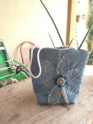 Bolsa artesanal jeans