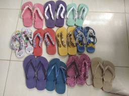 Sandália havaianas  números variados, motivo da venda, preguiça de bordar