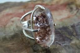 Anel exclusivo em prata 950 com pedra Lodolita