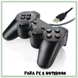 Título do anúncio: Controle Playstation 2 Usb Joystick Emuladores Tv Box E Pc. NOVO
