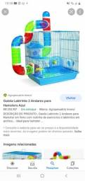 Título do anúncio: Gaiola labirinto  2 andares prata hamsters