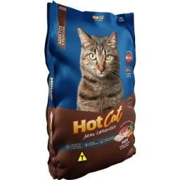 Título do anúncio: Ração Hot Cat Mix de Carne 25kg Gatos Adultos e Filhote