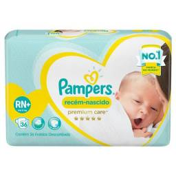Fraldas Pampers Premium Care RN+ até 6 kg 36 Unidades<br><br>