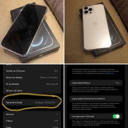 Título do anúncio: iPhone 12 Pro Max Silver 128gb - Garantia Apple 02/22