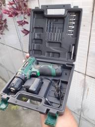 Parafusadeira Furadeira 16,5Nm Bateria de Lítio 1300mAh com Maleta e Acessórios