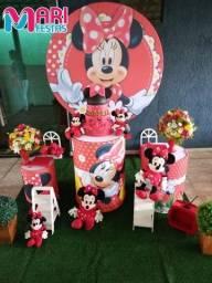 Decoração Minnie mouse luxo pegue monte
