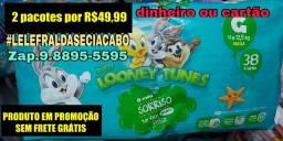 Fraldas Looney Tunes  2 pacotes( nao respondo chat)