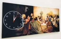 Quadro Santa Ceia com Relógio