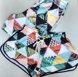Título do anúncio: shorts tactel elastano, kit casal